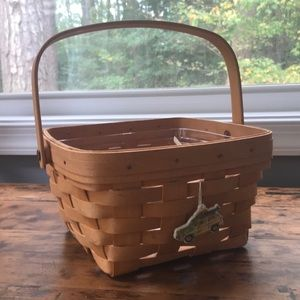 Longaberger 1996 Large Berry Basket w/ Woody Charm